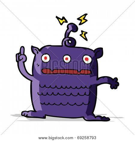 cartoon weird little alien