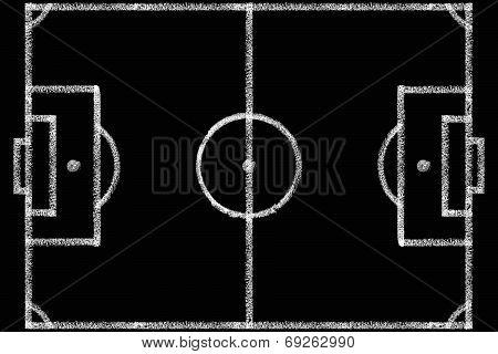 Blackboard With A Football Field