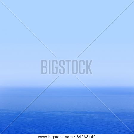 Blue sea and sky horizon background