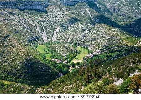 Cirque de Navacelles in Southern France