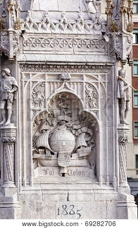 Columbus Statue Monument Plaza De Colon Madrid Spain