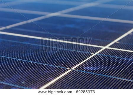 A Roof With Solar Panels Cells - Detail. Solar Panels Producing Clean And Sustainable Electricity. S