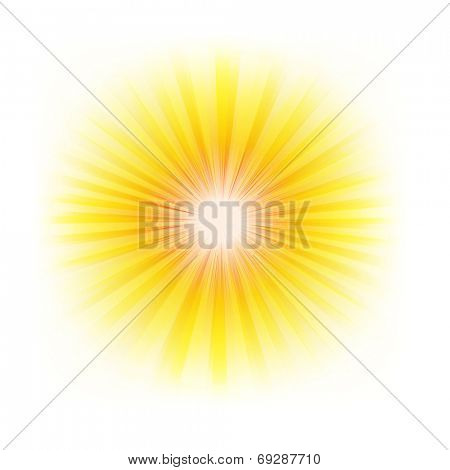 Burst Poster With Beams, With Gradient Mesh, Vector Illustration