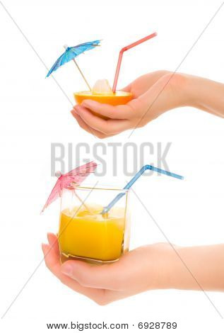Woman's Hands With Cocktail