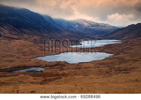 Loch Sguabain And Loch Airdeglais, Isle Of Mull, Scotland