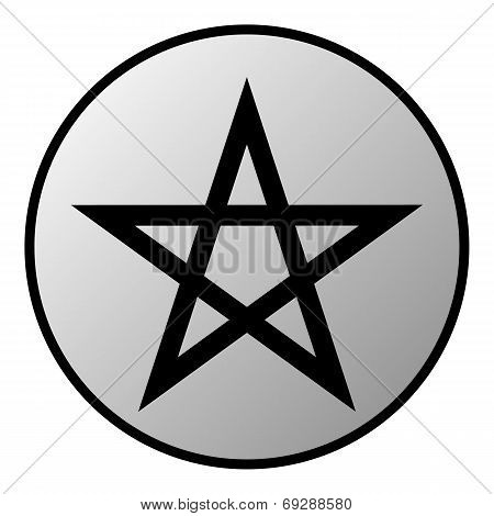 Pentagram Button