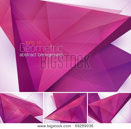 Geometric abstract background series