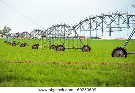 Crop Watering By Sprinklers
