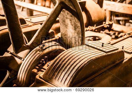 Aged Rusty Machinery