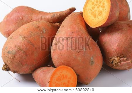 detail of batata sweet potatoes