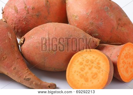 detail of batata sweet potatoes