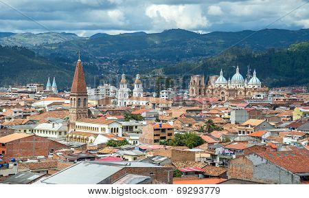 View of the city of Cuenca, Ecuador