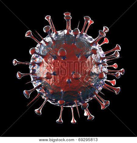 Sars Virus - on black background