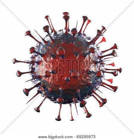 Sars Virus - Isolated on White