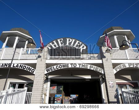 Entrance To The Historic Old Orchard Beach Pier