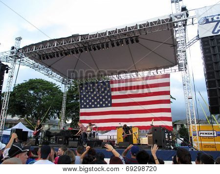 Rock Band, Jack's Mannequin, Play At 4Th Of July Spectacular Celebrating America At Schofield Barrac