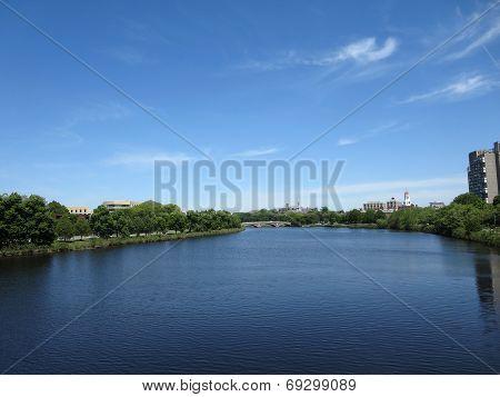 Charles River With Bridge