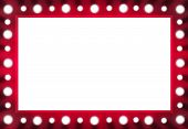 foto of moulin rouge  - Red verison Illustration layout of mirror with bulbs background - JPG