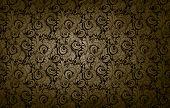 foto of damask  - golden victorian vintage seamless pattern background damask texture - JPG