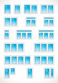 picture of modification  - Vector images of different modifications of plastic windows - JPG