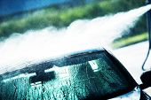 picture of pressure-wash  - Washing Car in Hand Car Wash - JPG