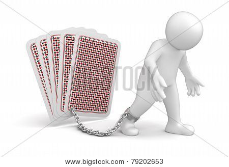 Man and Cards (clipping path included)