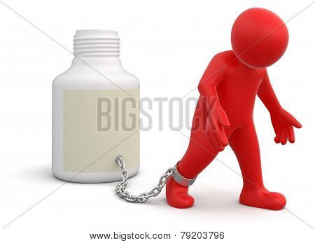 Man and flacon (clipping path included)