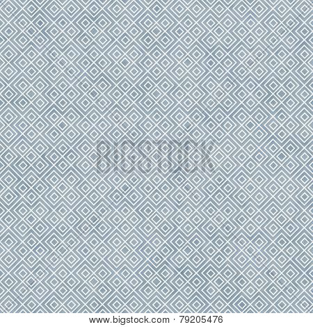 Blue And White Square Geometric Repeat Pattern Background