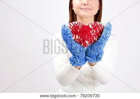 Valentine Heart In Girls Hands