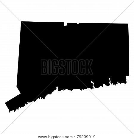 Map Of The U.s. State Of Connecticut