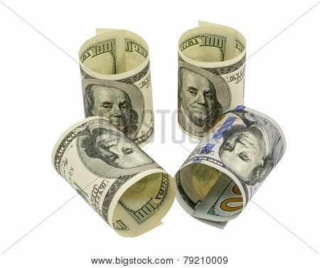 American Dollars Rolled Up