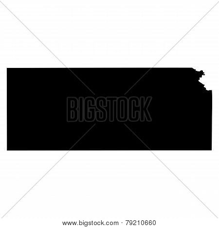 Map Of The U.s. State Of Kansas