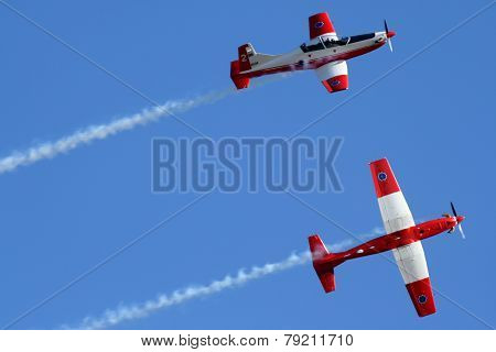 2 Planes in formation