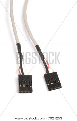 4-pin Cd/dvd Audio Connector Cable Isolated On White Background