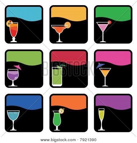 Cocktail-Symbole