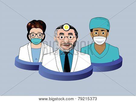 Three dentist icons