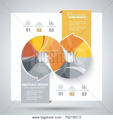Vector Brochure Template Design With Arrows Elements.