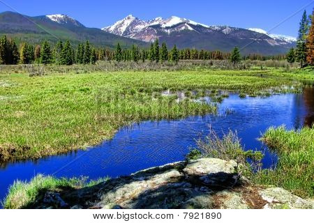 Rocky Mountain Landscape With River
