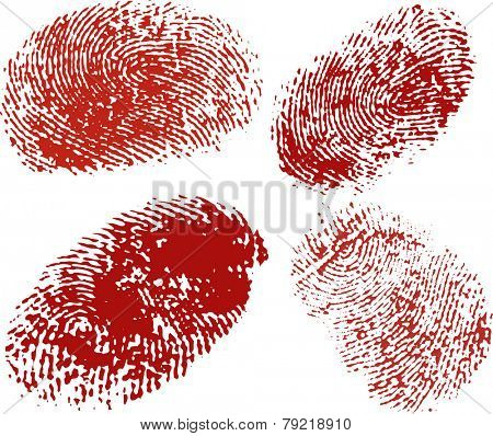 Vector finger prints texture