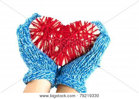 Hands Holding A Woven Heart