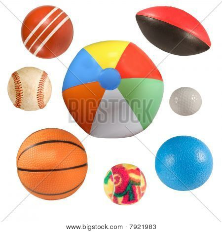 Sports Balls Collection Isolated