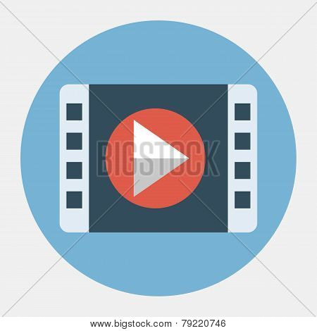 Vector movie play icon