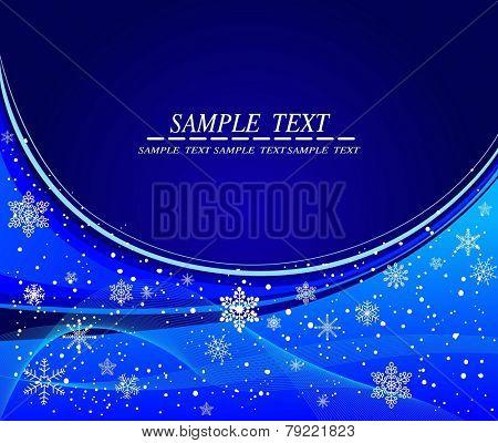 Blue winter vector design