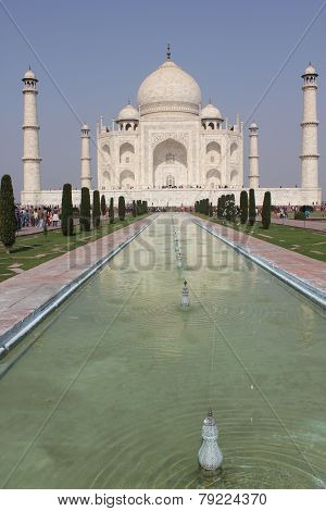 The Taj mahal, front view