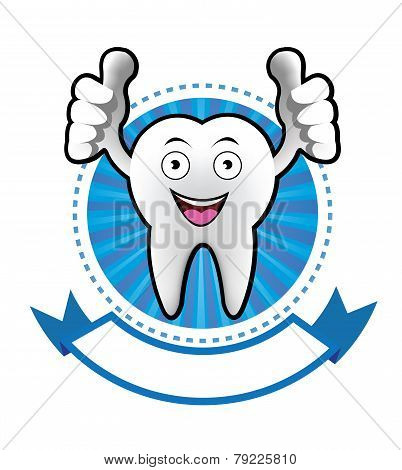 Cartoon Smiling tooth banner