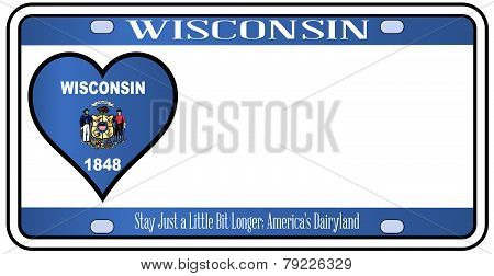 Wisconsin State License Plate