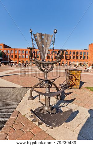 Sculpture Of Throne In Manufacture Shopping Mall In Lodz, Poland