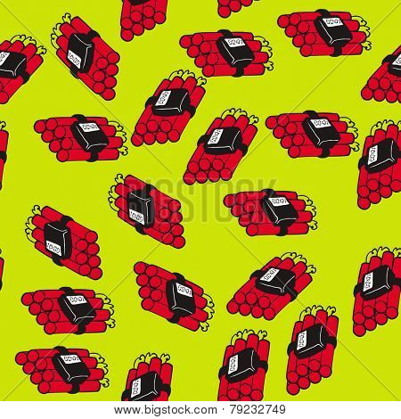 dynamite bomb seamless pattern cartoon illustration