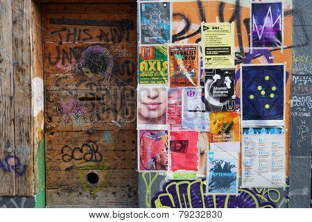 GENEVA - SEP 11: door in building at Geneva downtown on September 11, 2014 in Geneva, Switzerland. Geneva is the second most populous city in Switzerland and is the most populous city of Romandy