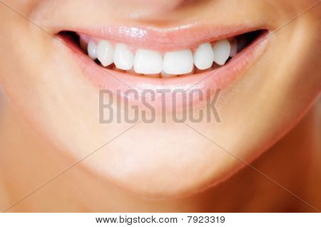 Smiling natural beauty